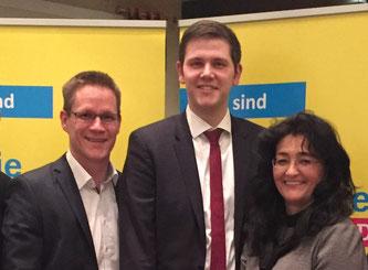 Thorsten Baumgart, Patrick Büker und Silke Wehmeier
