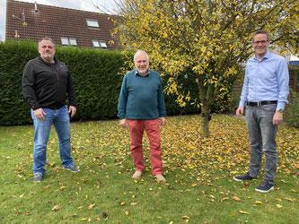 Die FDP-Ratsfraktion mit: Olli Pretel, Gerhard Blumenthal und Thorsten Baumgart