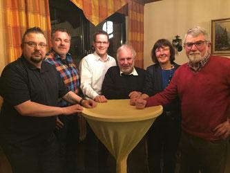 V.l.n.r.: Sven Barbaresko, Olaf Pretel, Thorsten Baumgart, Gerhard Blumenthal, Ulla Lehmann, Horst Geller