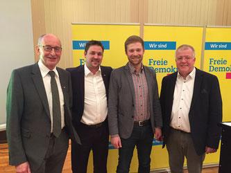 Hermann Ludewig, Rainer Gellermann, Philip Winkler, Dr. Ulrich Klotz (v.l.n.r.)
