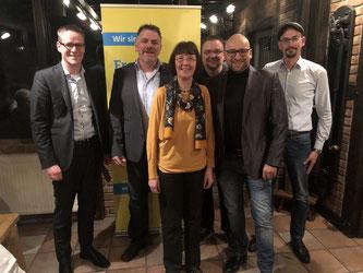 v.l.n.r.: Thorsten Baumgart, Olaf Pretel, Ulla Lehmann, Sven Barbaresko, David Luge, Marco Niermeier