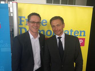 Thorsten Baumgart mit Christian Lindner
