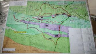Carte carrières forêt du bager d'Oloron par Guillaume Constanzo