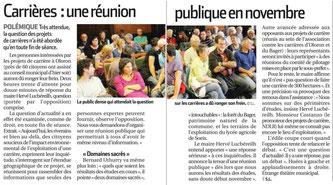 Réunion du Conseil Municipal à Oloron avec une population inquiète au fond de la salle...