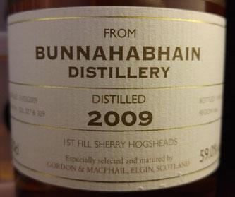 Bunnahabhain 2009 / 2017 Gordon & MacPhail Label