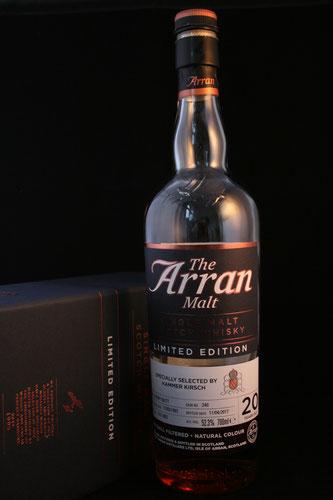 Arran 1997 / 2017 selected by Kammer Kirsch Flasche und Etikett.