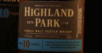 Highland Park 10 Jahre Label