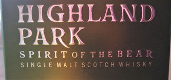 Highland Park Spirit of the Bear Label