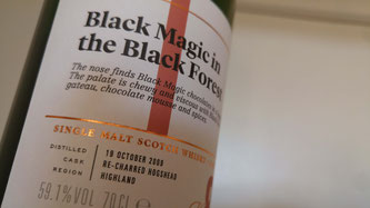 SMWS 68.15 Black magic in the black forest Etikett