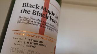 SMWS 68.15 Black magic in the black forest Etikett