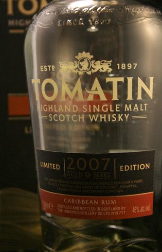 Tomatin 2007 Flasche