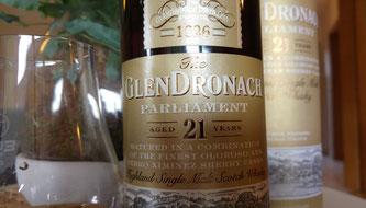 GlenDronach 21 Jahre Parliament Etikett