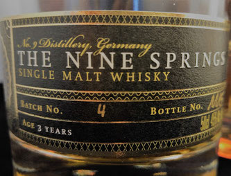 Etikett The Nine Springs Triple Cask Batch 4