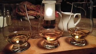 Whiskytasting Aultmore 12 Jahre, Clynelish 14 Jahre und Ardmore 20 Jahre