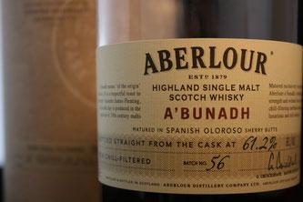 Aberlour A'Bunadh Batch #56 Etikett