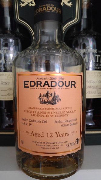 Edradour 2006 / 2018 Marsala Cask Matured Flasche und Label