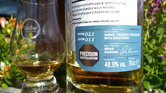 Ailsa Bay Label und Glas