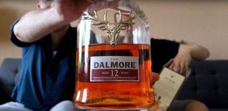 Dalmore 12 Etikett und Flasche