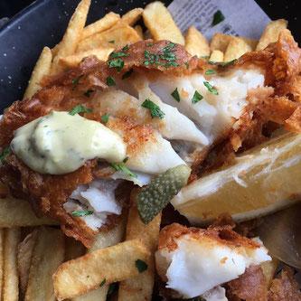 fish chips fisk panert pommes frites