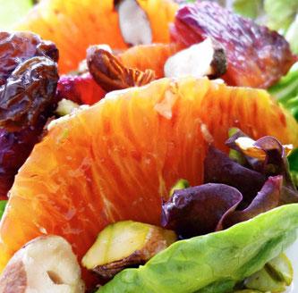blodappelsin salat oppskrift kanelsaus