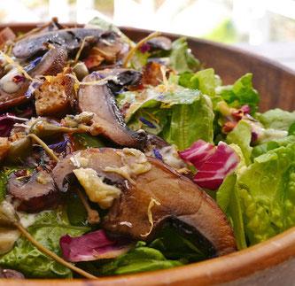 cæsarsalat portobellosopp vegetarsalat