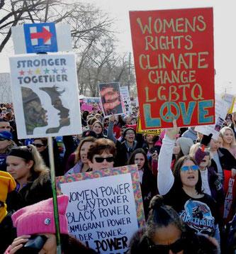 LGBTQ-demoblok i Washington DC.