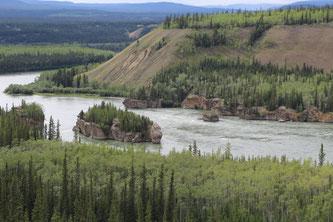Five Fingers Rapids sur la rivière Yukon