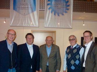 v.l.: Hermann Ludewig, Jörg Becker, Hans-Peter Friese, Wilhelm Morgenstern und Thorsten Baumgart