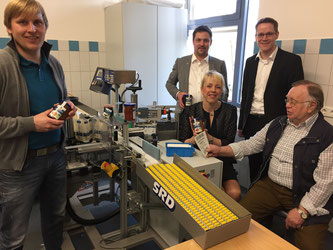 v.l.n.r.: Dr. Menke, Rainer Gellermann, Susanne Schneider, Thorsten Baumgart, Eckhard Fuhrmann