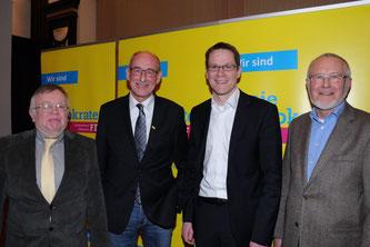 Der neu gewählte Vorstand (v.l.n.r.): Eckhard Fuhrmann, Hermann Ludewig, Thorsten Baumgart und Ernst Sebbel (Bild: Haller Kreisblatt/Herbert Gontek)