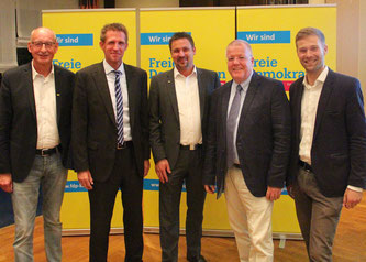 v.l.n.r.: Hermann Ludewig, Dr. Björn Kerbein, Rainer Gellermann, Dr. Ulrich Klotz, Philip Winkler