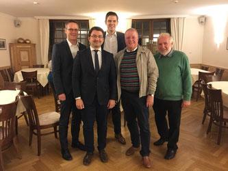 (v.l.n.r.) Thorsten Baumgart, Christian Sauter MdB, Patrick Büker, Ulrich Klotz, Gerhard Blumenthal