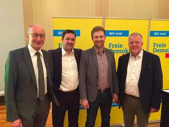 Hermann Ludewig, Rainer Gellermann, Philip Winkler, Dr. Ulrich Klotz (v.l.n.r)