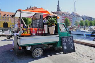 Kopenhagen - italienisches Restaurant am Wasser mit Sonnenterrasse