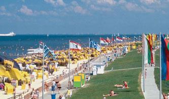 Strand in Cuxhaven-Duhnen