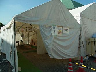 熊本地震益城町総合体育館避難所男子用シャワー室