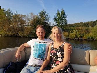 Sportboot-Trip nach Larissas 1. Geburtstag (Larissa ist mit Oma an Land)
