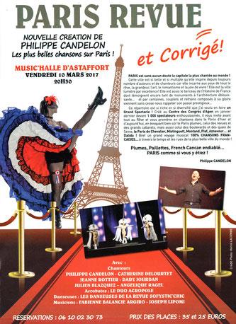 Paris revue et corrigé ! music'halle d'astaffort, vendredi 10 mars 2017
