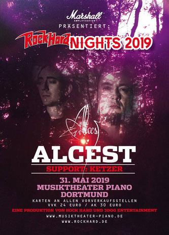 ALCEST und KETZER am 31.05.2019 im Musiktheater Piano / Dortmund