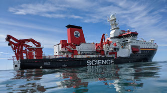 The research vessel SONNE on a previous expedition off Iceland. © Viola Siegler | SENCKENBERG am Meer