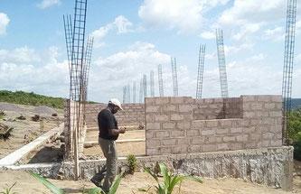 Mission Kongo Schule im Rohbau - Projekt Magnificat