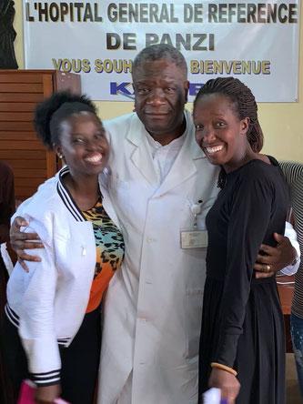 Masoso Bideri Antoinette - Mission Kongo e.V.  trifft Dr. Denis Mukwege, Panzi Hospital Bukavu