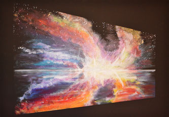 MaLo 2018 * SURPRISE * Original Acrylbild auf Keilrahmen 100 x 80 cm, € 200,--