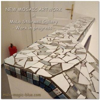 Mario Lorenz, Mosaikkunst, mosaic art, Treppengalerie, Graz, Steiermark, Österreich