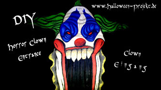 DIY Halloween Horror Clown Eingang, Clown Entrance