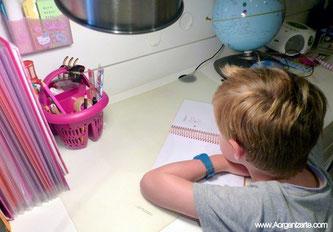 Ayuda a tus hijos a crear rutinas para las tareas del cole - www.AorganiZarte.com