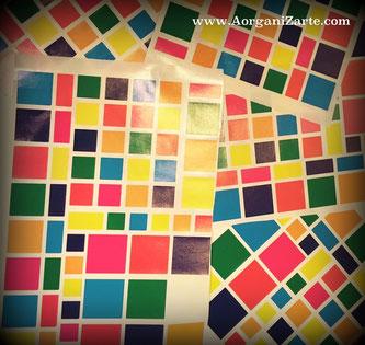 Identifica cada asignatura con una pegatina de un color - AorganiZarte