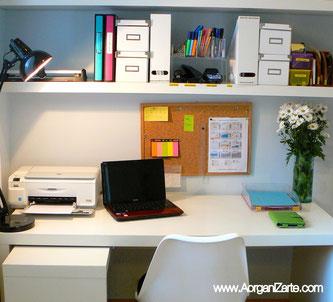 Organiza tu mesa para trabajar y ser más productivo - AorganiZarte