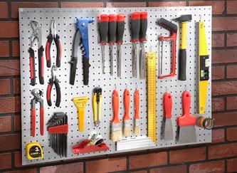 Pon tus herramientas en un panel perforado - AorganiZarte