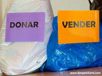 Vender y donar para no tirar - AorganiZarte